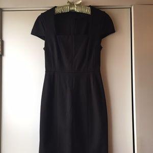 sheath cap sleeve black dress, 2, Banana Republic